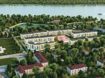 Панорама застройки комплекса ЖК Дубровка на Неве
